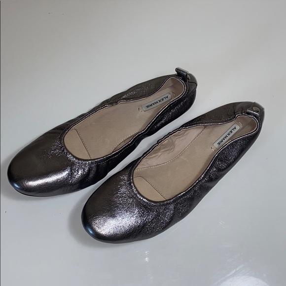 Alex Marie Shoes | Silver Ballet Flats